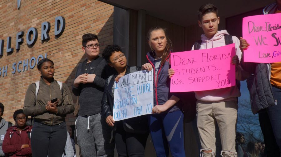 Guilford+High+School+walks+out+to+advocate+for+safer+schools