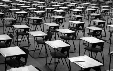 Not so fast, Santa!  Students ready themselves for final exams