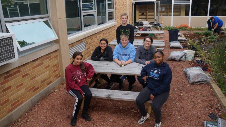 Courtyard undergoes major improvements thanks to dedicated volunteers