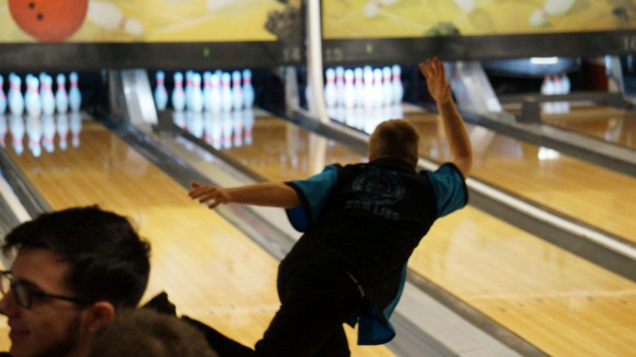 Bowling+team+Captain++Devan+Skridla%2C+freshman%2C+rolls+a+strike+at+the+Harlem+Huskie+invite+on+November+30th.++Skridla+was+an+IESA+state+champion%2C+both+at+the+individual+and+team+level%2C+last+year+at+Eisenhower+MS.
