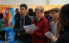 Freshmen  attend Career Expo at Sportscore One