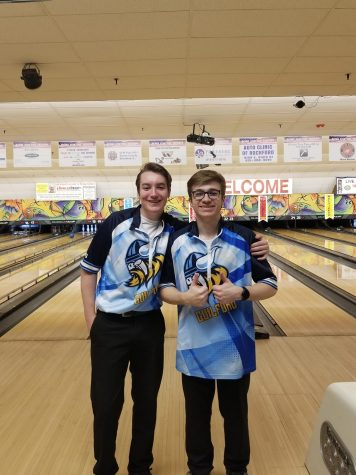 Congratulations to Kyle Albrecht 11, And Devan Skridla  9 on making the 2020 Boys Bowling Sectionals