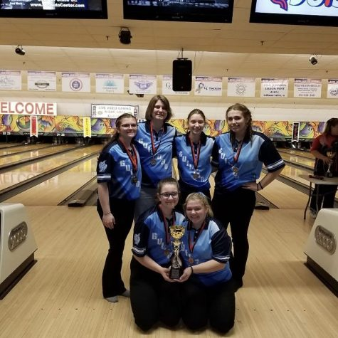 The Guilford girls bowling team finished 5th at the East invitational