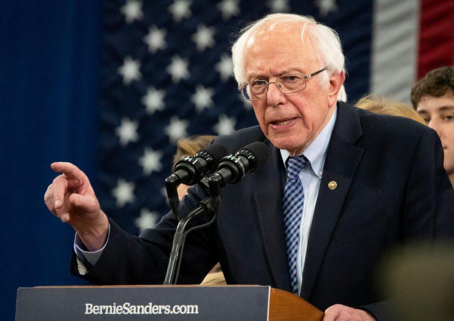 Bernie Sanders at a rally. Credit: CNN