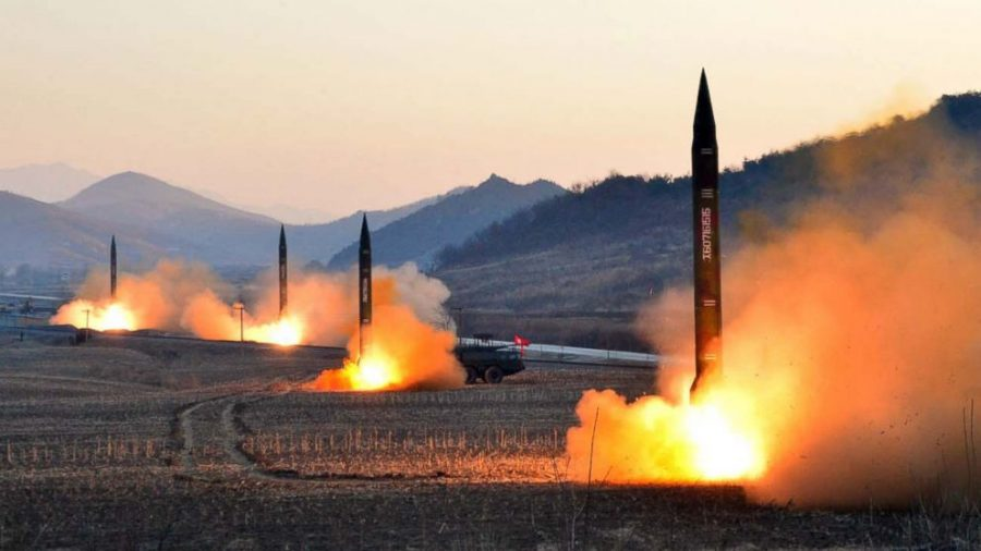 Missiles being fired by North Korea. Credit: ABC News