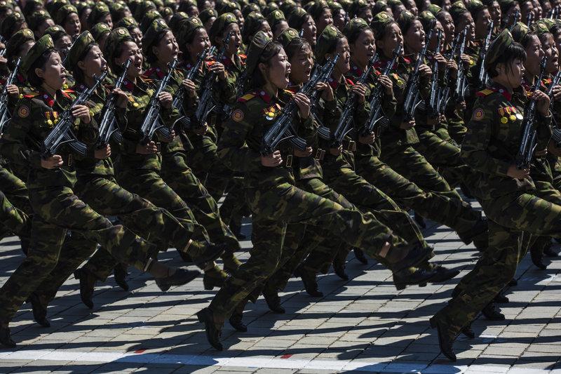 North Korean Military. Credit: NPR