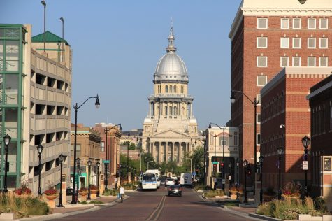 The capital building in Springfield, Illinois