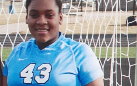 Sophomore Nyla Owens has used quarantine time to practice and improve her soccer skills.