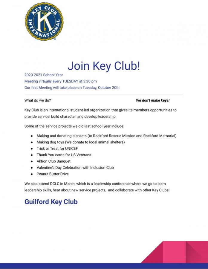 Join Guilford Key Club!