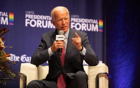 Joe Biden at LGBTQ panel. Image Credit: The New York Times
