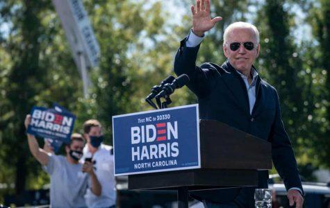 Joe Biden at a rally. Credit: The Guardian