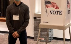 David Castillo volunteers as an election judge.