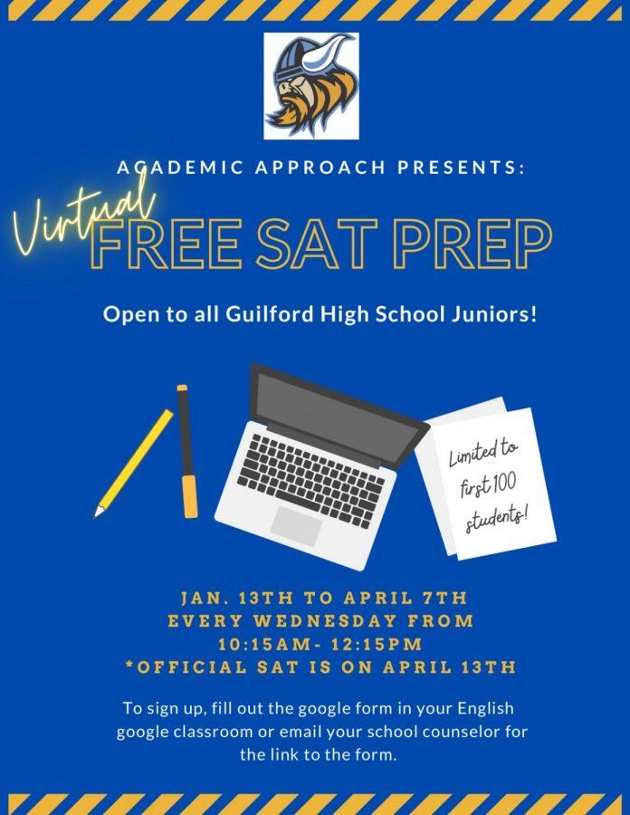 Juniors! Virtual free SAT prep now avaliable!