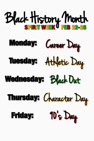 Black History Month Spirit Week Feb 22-26