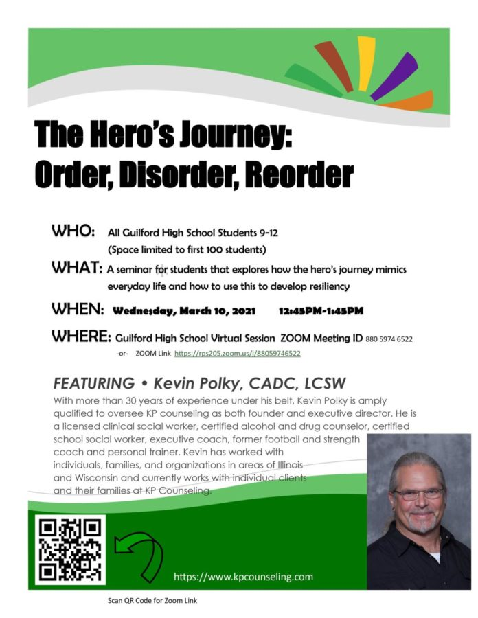 Kevin Polky March 10 Wellness Wednesday seminar: The Hero's Journey